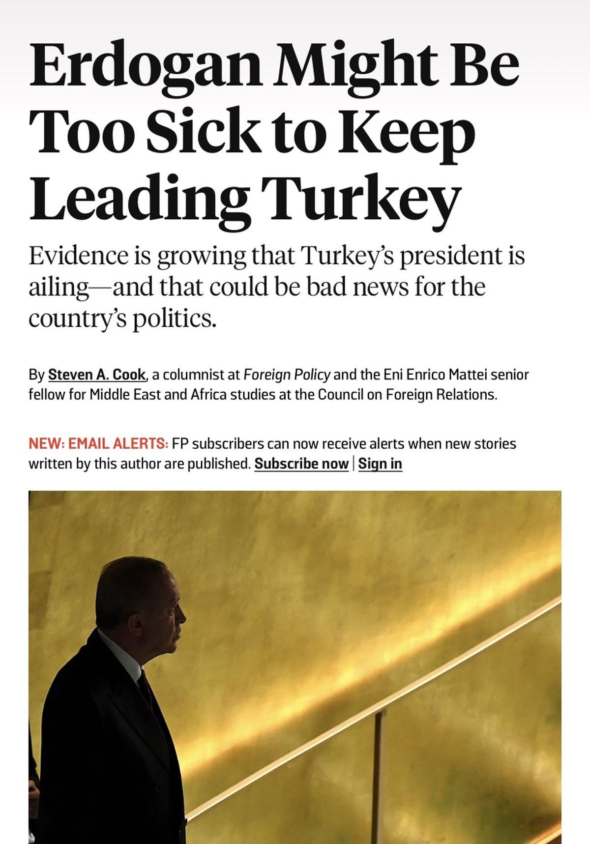 گزینه های جانشینی اردوغان