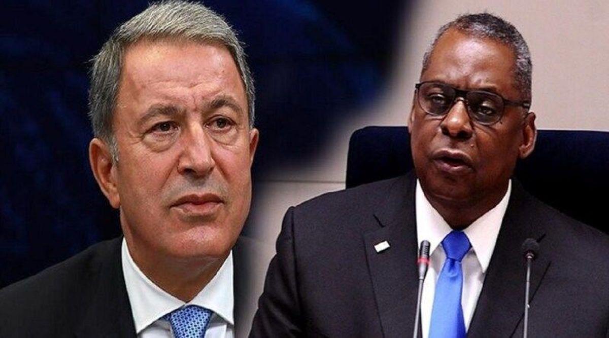 وزیران دفاع آمریکا و ترکیه درباره مسائل منطقه ای گفتگوی  تلفنی داشتند