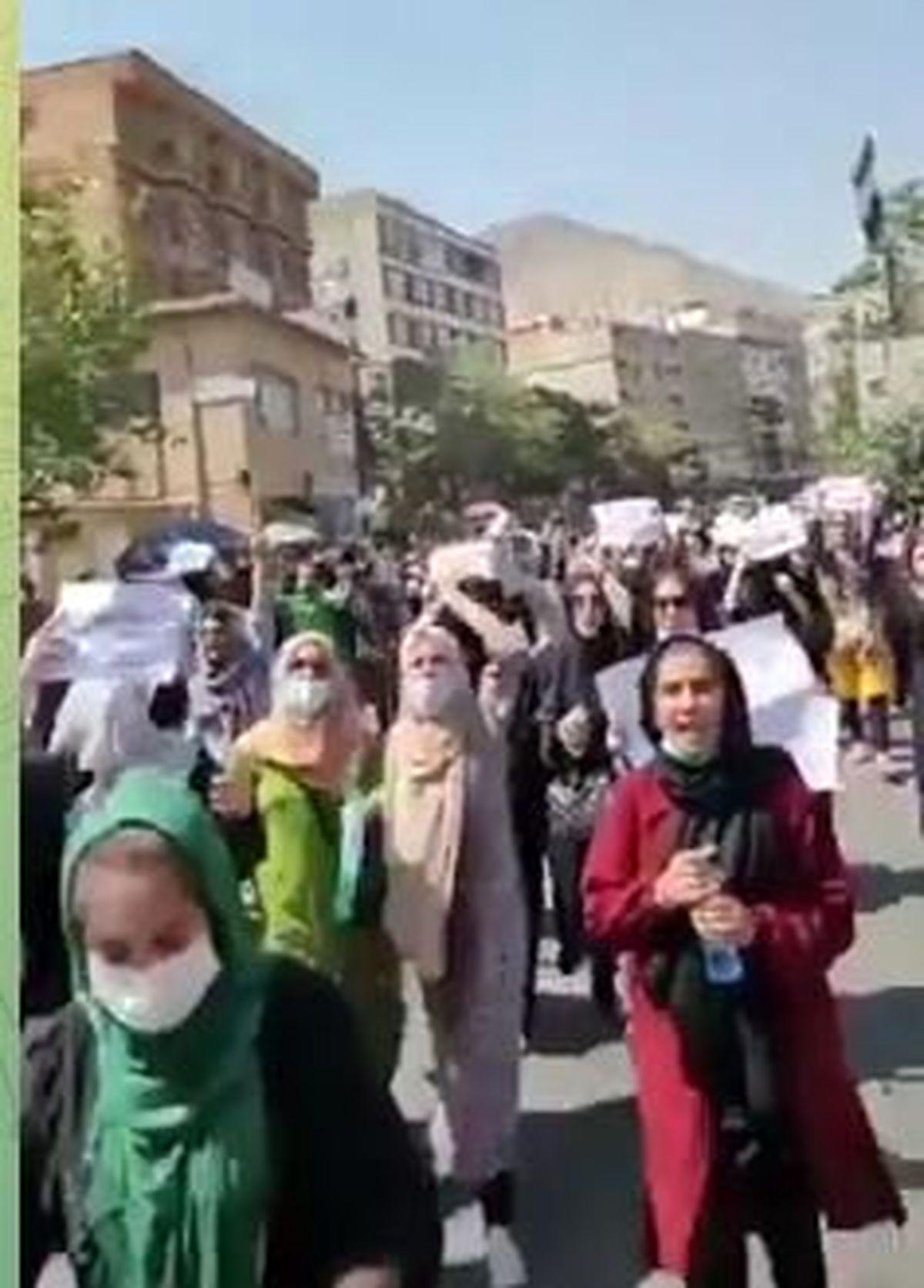 به خشونت کشیده شدن تظاهرات اعتراضی در کابل
