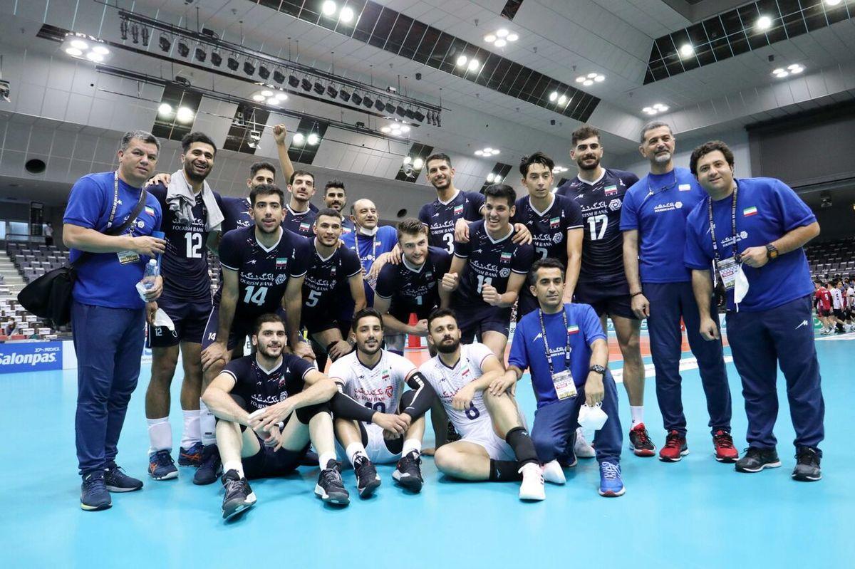 پیروزی آسان تیم ملی والیبال ایران مقابل تایلند
